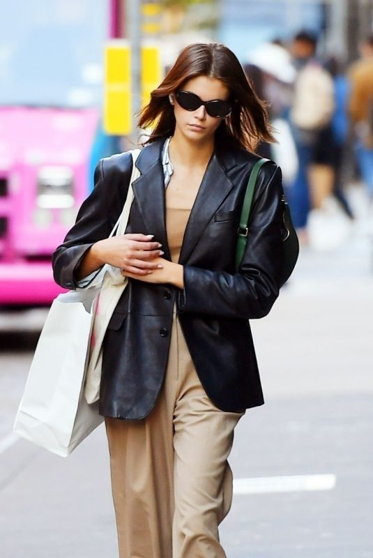 KAIA GERBER Out Shopping in New York 10/01/2021
