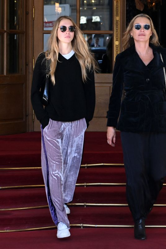 KATE and LILA GRACE MOSS Out at Paris Fashion Week 10/04/2021
