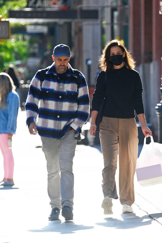 KATIE HOLMES Out with a Friend in New York 10/09/2021