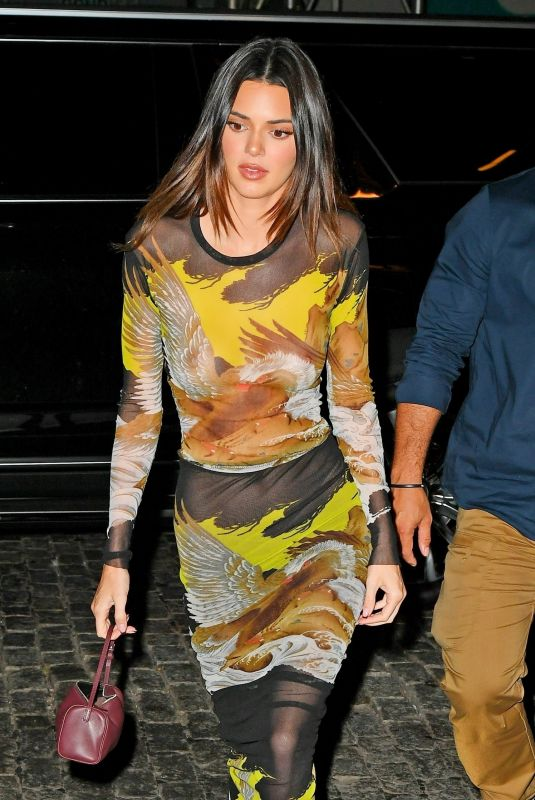 KENDALL JENNER Arrives at Her 818 Tequila Event in New York 10/14/2021