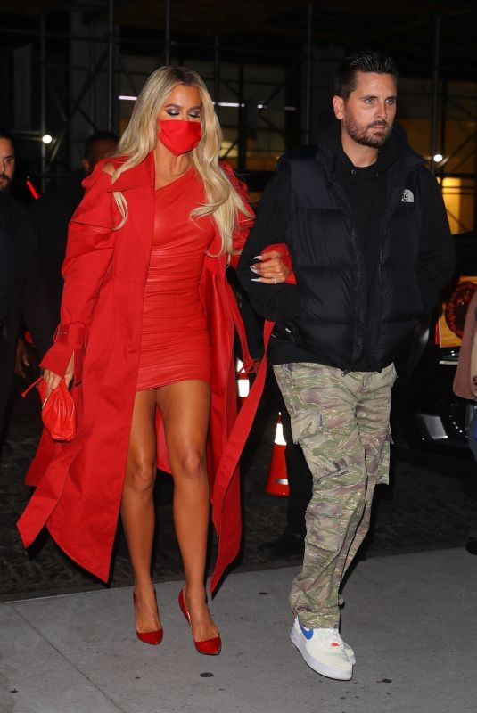 KHLOE KARDASHIAN and Scott Disick Arrives at SNL Afterparty in New York 10/09/2021