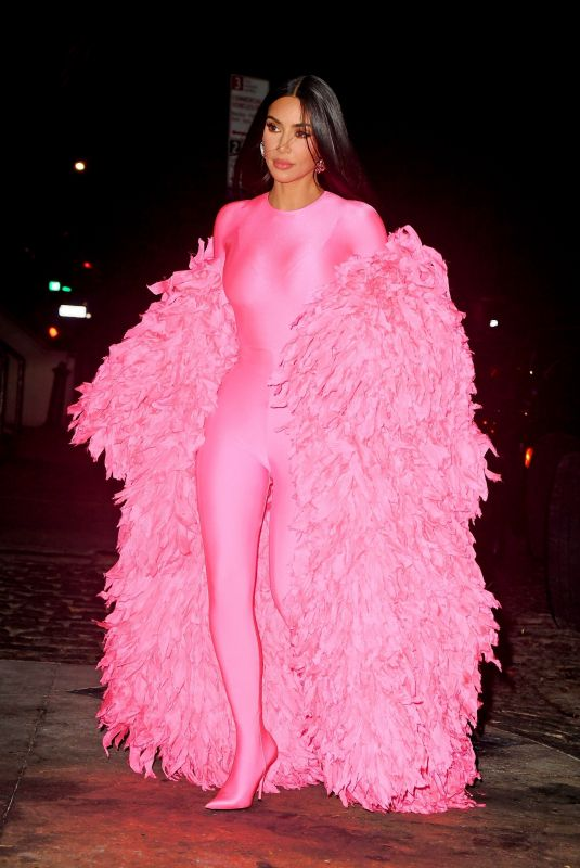 KIM KARDASHIAN Arrives at SNL Afterparty in New York 10/09/2021