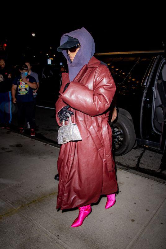 KIM KARDASHIAN Arrives Back at Her Hotel in New York 10/07/2021