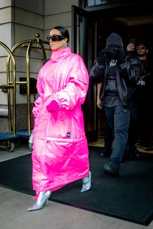 KIM KARDASHIAN Leaves Her Hotel in New York 10/09/2021