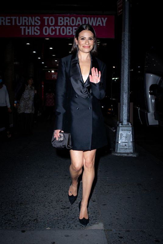 LEA MICHELE Night Out in New York 10/13/2021
