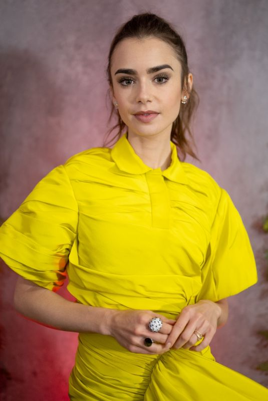 LILY COLLINS at 15th Annual Go Gala in Los Angeles 10/23/2021