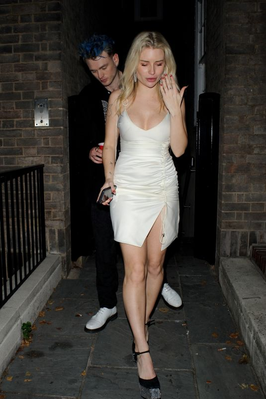 LOTTIE MOSS Leaves a Party in the Early Hours of Saturday Morning in London 10/16/2021