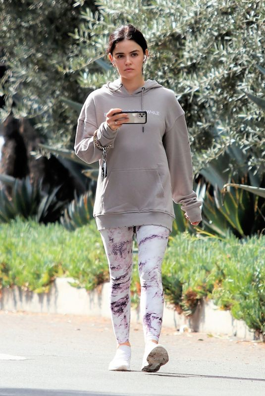 LUCY HALE Out Hiking in Studio City 10/18/2021