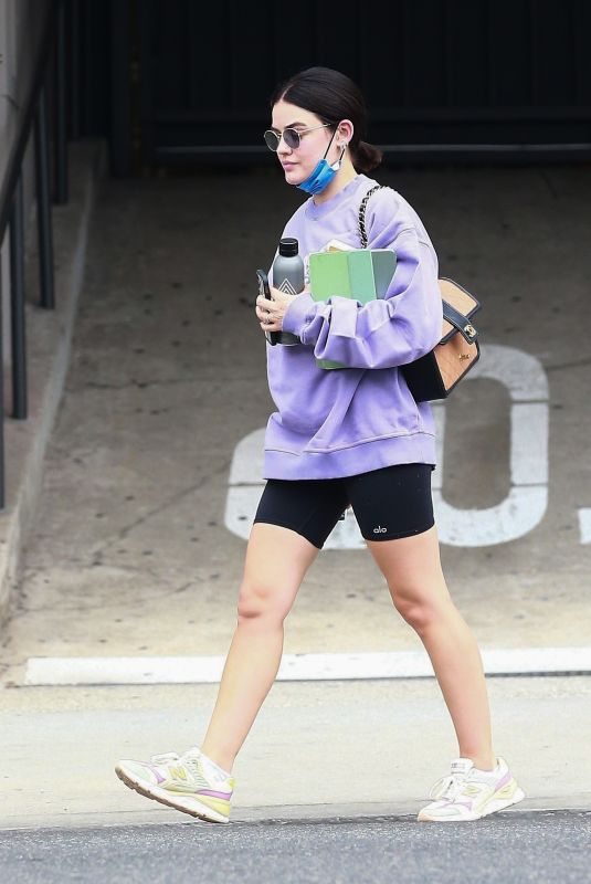 LUCY HALE Out in West Hollywood 09/30/2021