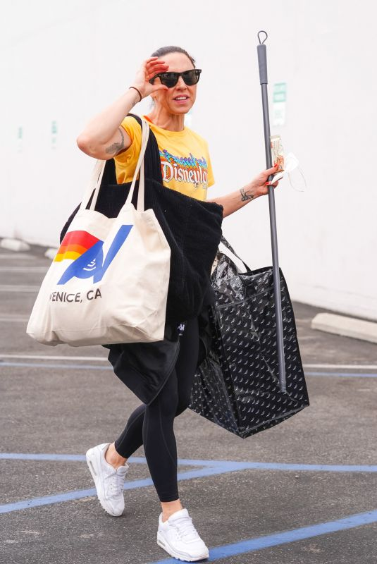 MELANIE CHISHOLM at Dancing with the Stars Rehearsals in Los Angeles 10/07/2021