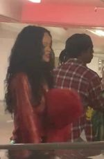RIHANNA and A$AP Rocky Celebrates His Birthday at a Late-night Concert in DTLA 10/04/2021