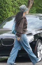 RIHANNA Leaves Her Home in Los Angeles 10/07/2021