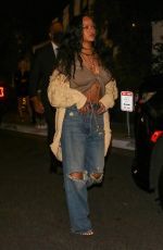 RIHANNA Out for Dinner at San Vicente Bungalows in West Hollywood 10/05/2021