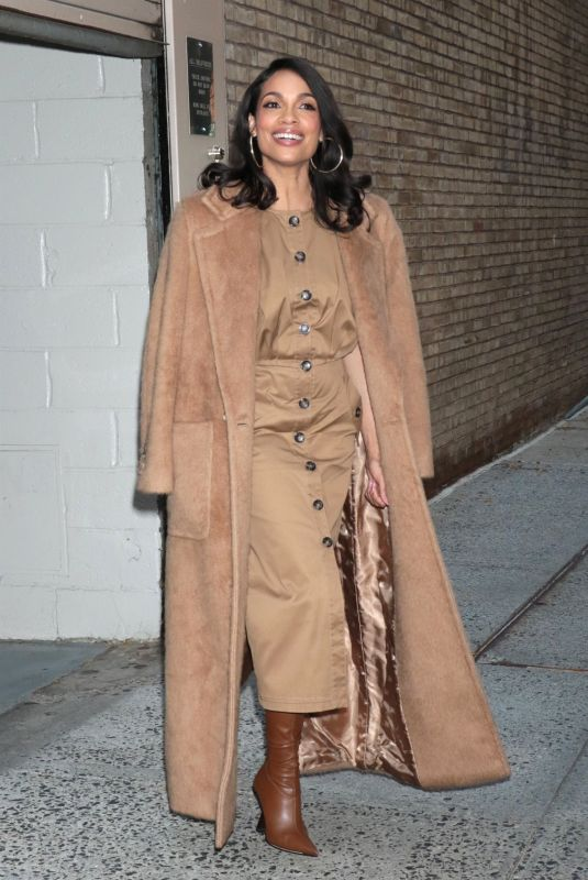 ROSARIO DAWSON Leaves Live with Kelly and Ryan in New York 10/14/2021
