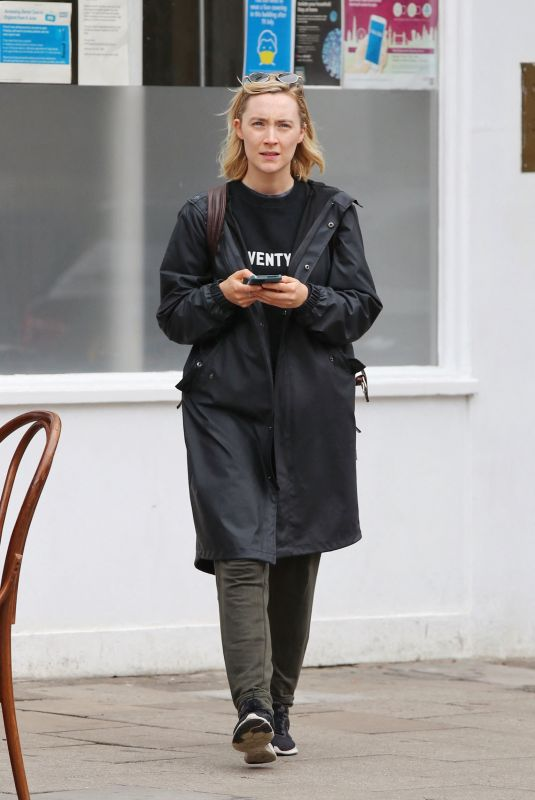 SAOIRSE RONAN Out and About in London 09/30/2021