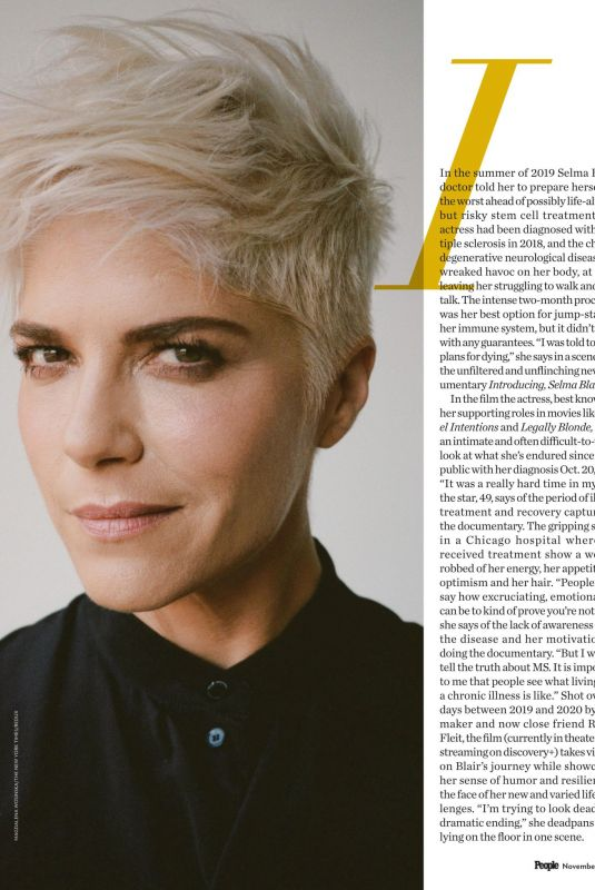 SELMA BLAIR in People Magazine, November 2021