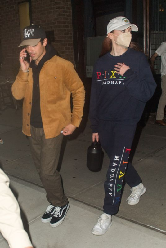 SOPHIE TURNER and Joe Jonas Night Out in New York 10/02/2021