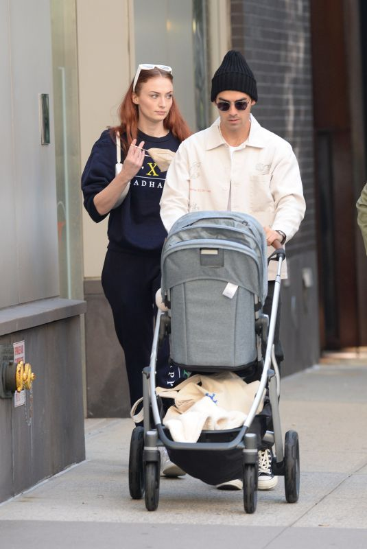 SOPHIE TURNER and Joe Jonas Out with Their Baby in New York 10/02/2021