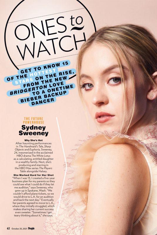 SYDNEY SWEENEY in People Magazine, October 2021