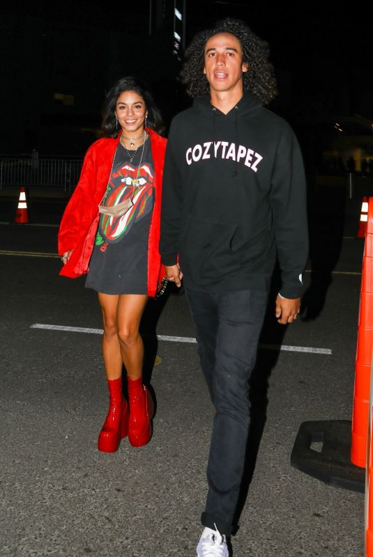 VANESSA HUDGENS and Cole Tucker Arrives at The Rolling Stones Concert in Los Angeles 10/14/2021