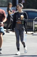 VANESSA HUDGENS and GG MAGREE Heading to Dogpound Gym in West Hollywood 10/13/2021