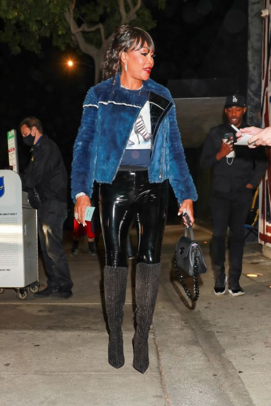 VIVICA FOX Out for Dinner at Craig's in West Hollywood 10/11/2021
